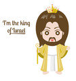 jesus christ with king crown vector image
