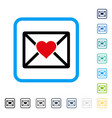 love letter framed icon vector image