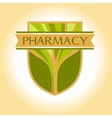Medical pharmacy logo design template Editable vector image