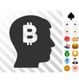mental bitcoin icon with bonus vector image vector image