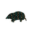 mole insectivores mammal color silhouette animal vector image vector image