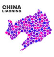 mosaic liaoning province map of round dots vector image vector image