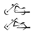 Motorbike symbols set vector image