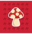 mushroom pattern background image vector image