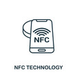 nfc technology outline icon creative design from vector image