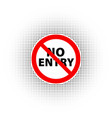 no entry sign vector image