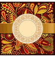 ornamental template vector image vector image