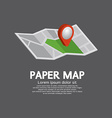 Pin On Paper Map vector image vector image