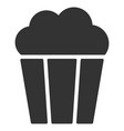 popcorn bucket flat icon vector image