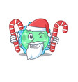 pseudomonas in santa holds christmas candies vector image vector image