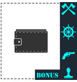 purse icon flat vector image