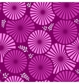 retro floral violet background vector image vector image
