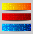 set colorful pixel banners vector image vector image