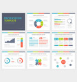 Set of Presentation Template Infographic elements vector image vector image