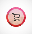 shopping cart circle pink triangle background icon vector image vector image
