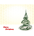 style xmas card vector image