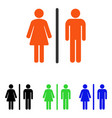toilets flat icon vector image