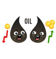 trade oil and money vector image