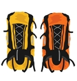 Two modern tourist backpacks on white background vector image