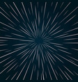 warp speed abstract background vector image vector image