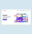 web site onboarding screens team build ux ui vector image
