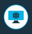 worldwide icon colored symbol premium quality vector image vector image