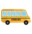 yellow school bus graphic vector image
