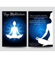 Yoga brochure flyers template vector image vector image
