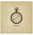 retro pocket watch old background vector image