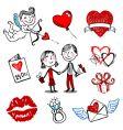 valentine illustrations vector image