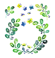 Watercolor floral design elements vector image