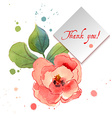 Watercolor greeting card with exotic flowers vector image