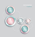 Template Infographic 5 options pink and blue vector image