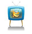 A television show about fish vector image vector image