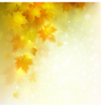 Abstract autumn background design vector image vector image
