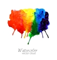 abstract watercolor rainbow gradient stain vector image vector image