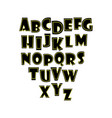 alphabet white background vector image vector image