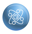 atom icon outline style vector image vector image