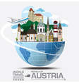 austria landmark global travel and journey vector image vector image