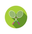 Badminton Racket flat icon with long shadow vector image