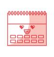calendar reminder kawaii character vector image