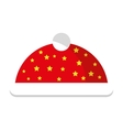 christmas hat decoration isolated icon vector image vector image