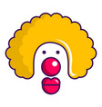 clown face icon cartoon style vector image