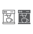 coffee maker line and glyph icon drink vector image