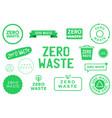 collection zero waste various badges symbols vector image vector image