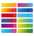 colorful empty web button set vector image vector image