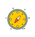 compass icon design vector image vector image
