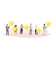 composition people star top positive concept vector image