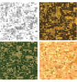 Digital pixel camouflage vector | Price: 1 Credit (USD $1)