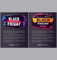 discount off black friday sale promo labels set vector image vector image